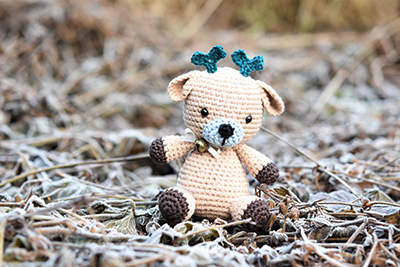 Sugarplum the Deer Free Amigurumi Crochet Pattern By lilleliis