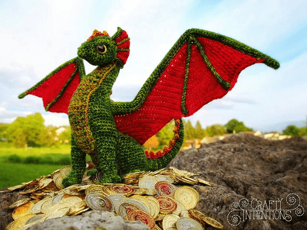 Adult Dragon Crochet Amigurumi Pattern by Crafty Intentions