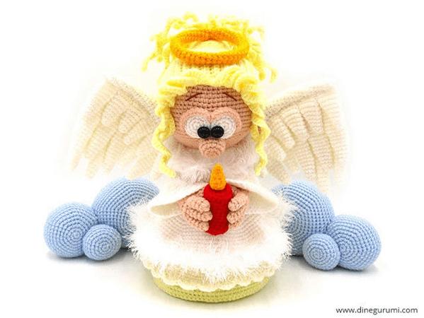 Angel Amigurumi Crochet Pattern by Dinegurumi