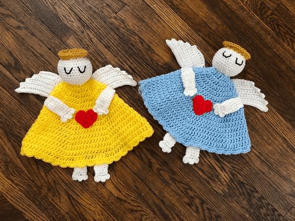 Angel Baby Lovey Crochet Pattern by DAC Crochet