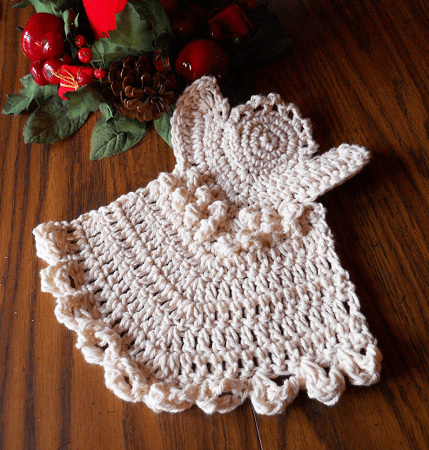 Angel Dishcloth Crochet Pattern by Yarn Genie Mysteries