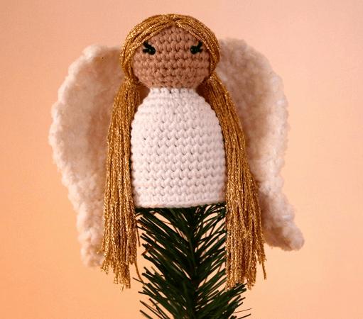 Angel Tree Topper Crochet Pattern by Stella's Yarn Universe