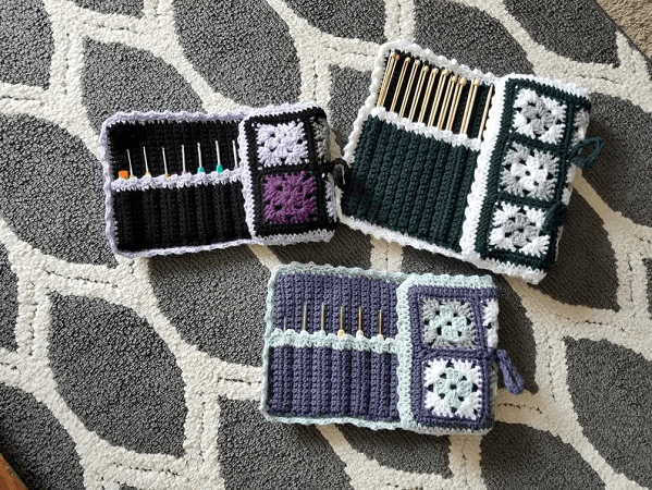 Around The Square Hook Case Crochet Pattern by Ravin Sekai Designs