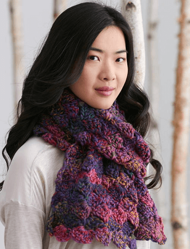 Aurora Borealis Winter Scarf Crochet Pattern by Yarnspirations