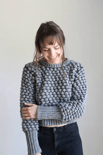 Bobblicious Sweater Crochet Pattern by Kay Krochets