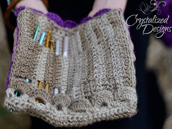Cascading Crochet Hook Case Pattern by Crystalized Design