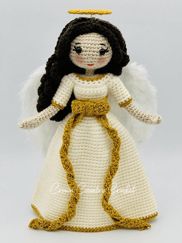 Christmas Angel Doll Amigurumi Pattern by Crown Country Crochet