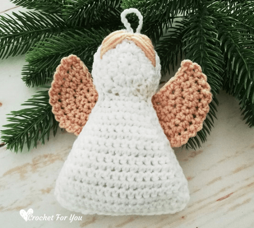 Crochet Angel Christmas Ornament Pattern by Crochet For You