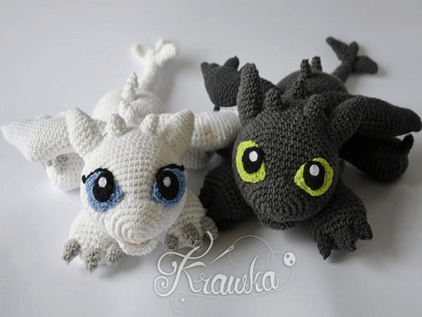 Crochet Dragon Pattern by Krawka