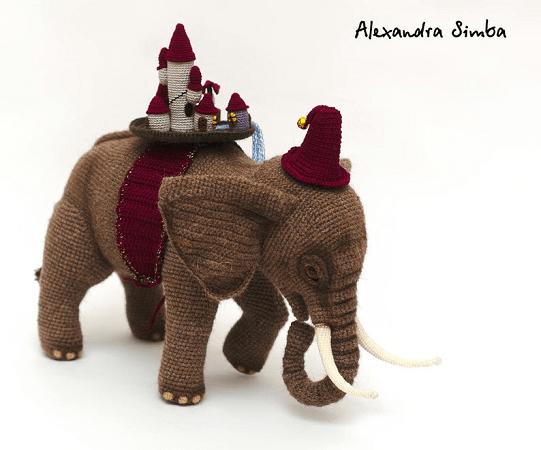 Crochet Elephant Pattern by Crochet Pattern Guru