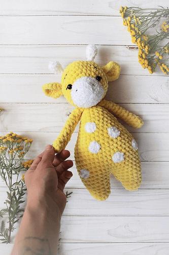 Crochet Giraffe Baby Toy Pattern by Dreams Owl