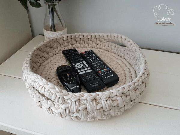Crochet Round Basket Pattern by Lulaor