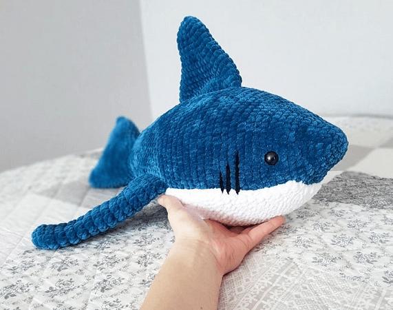 Crochet Shark Amigurumi Pattern by Crochet Wonders Design