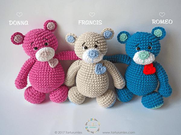 Crochet Sweetheart Teddy Bear Free Pattern by Tarturumies