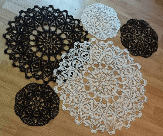 Crown Of Skulls Doily Crochet Pattern by Creative Works By Annie