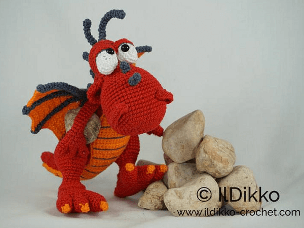 Drew, The Dragon Crochet Pattern by Il Dikko