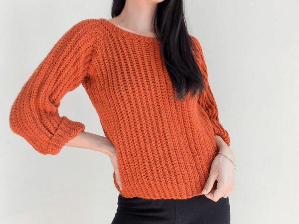 Easy Sweater Crochet Pattern by TCDDIY