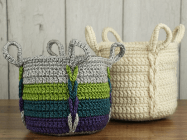 Entwined Basket Crochet Pattern by Knit And Crochet Evr Aft