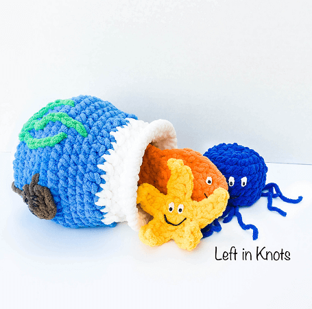 Fish Bowl Baby Toy Crochet Pattern by Left In Knots