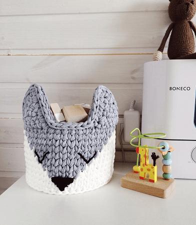 Fox Crochet Basket Pattern by My Cozy Studio