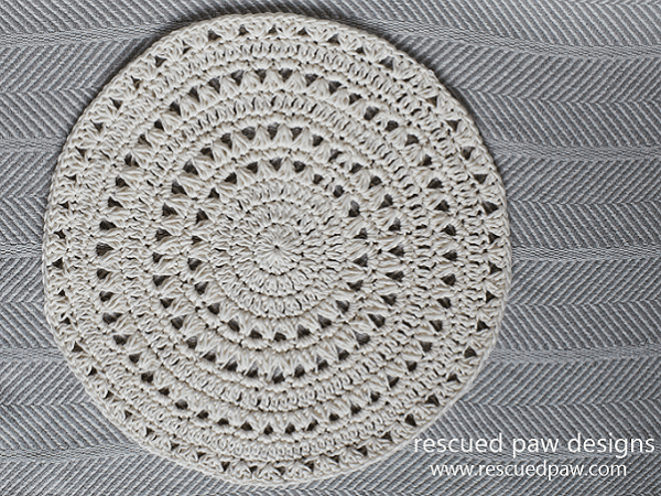 Doily Free Crochet Pattern by Rescued Paw Designs