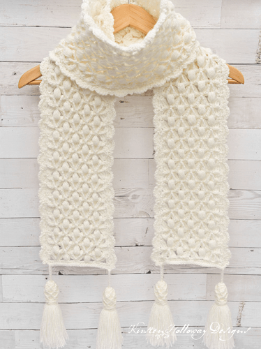 Free Luxurious Winter Scarf Crochet Pattern by Kirsten Holloway Designs