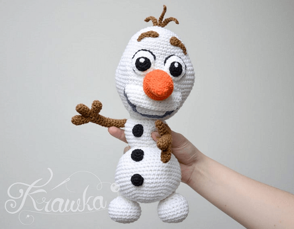 Frozen Snowman Crochet Pattern by Krawka
