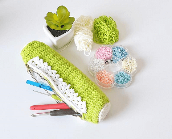 Hook Case Crochet Pattern by Loopingly Made