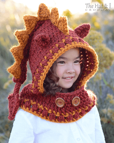 Lucky Dragon Hoodie Crochet Pattern by The Hat And I