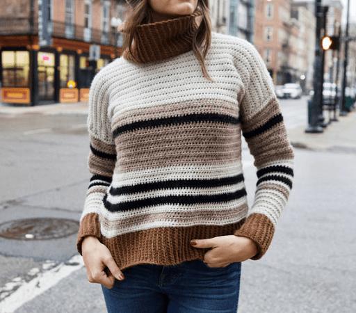 Mount Tremper Easy Sweater Crochet Pattern by Two Of Wands