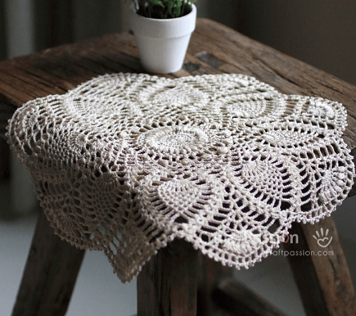 Pineapple Doily Free Crochet Pattern by Craft Passion