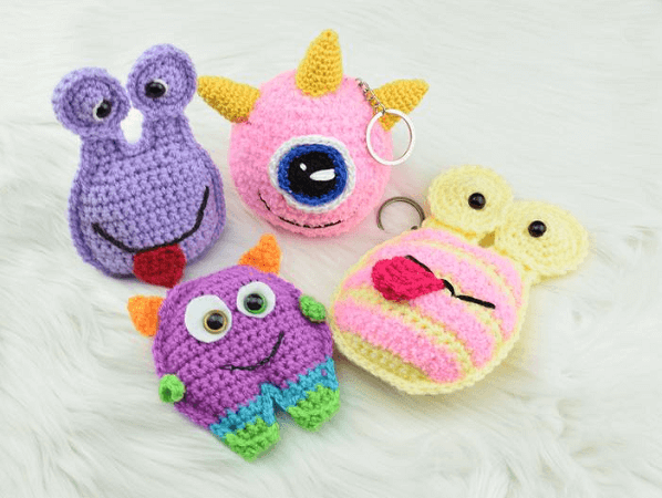 Pocket Monsters Keychains Crochet Pattern by Passionate Crafterr