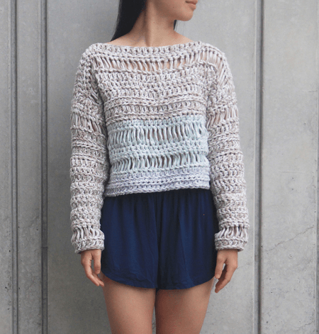 Sand Dune Sweater Crochet Pattern by For The Frills