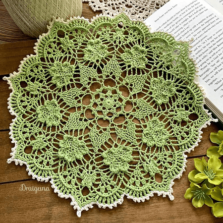 Shamrock Soiree Crochet Doily Pattern by Draiguna