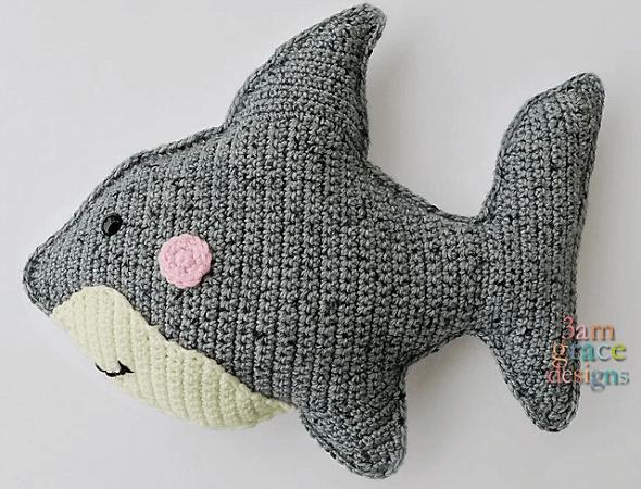 Shark Amigurumi Pattern by 3am Grace Designs