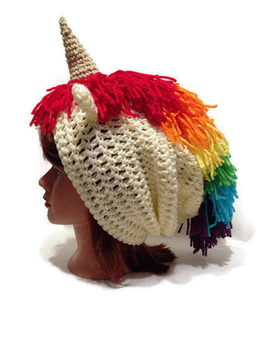 Slouchy Unicorn Hat Crochet Pattern by Add Some Stitches