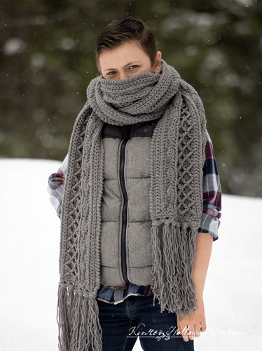 Snow Country Super Winter Scarf Crochet Pattern by Kirsten Holloway Designs