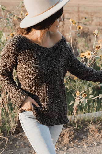 The Home Girl Sweater Crochet Pattern by Megmade With Love
