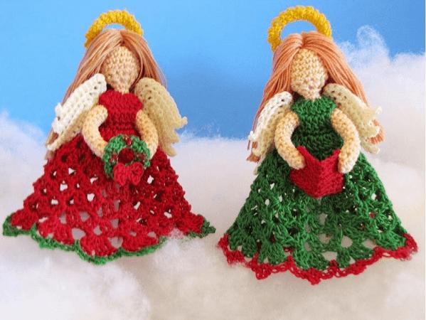 The Littlest Angel Christmas Ornaments Crochet Pattern by Bella Crochet