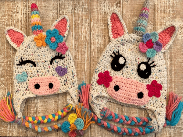 Unicorn Crochet Hats Pattern by Fur Babies CB