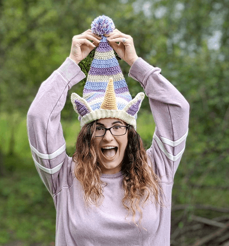 Unicorn Holiday Hat Crochet Pattern by The Hollowed Tree