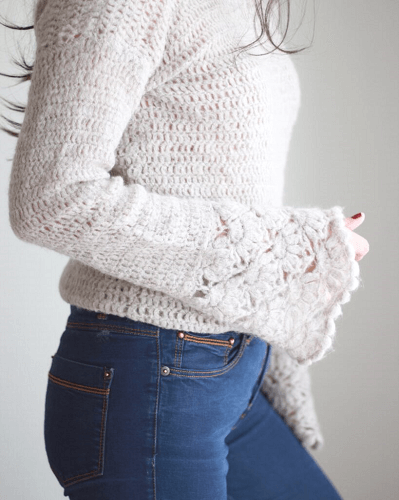 Valentina Top Sweater Crochet Pattern by Fiorelila