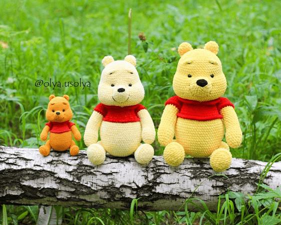 Winnie The Pooh Amigurumi Baby Toy Pattern by Olya Usolya Amigurumi
