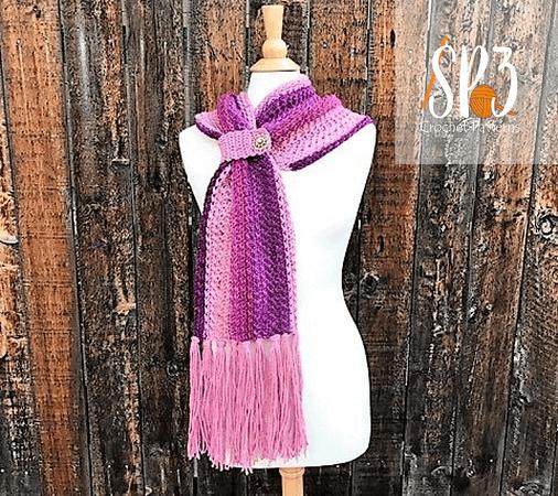 Winter Wishes Scarf Crochet Pattern by Sweet Potato 3 Patterns