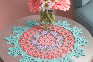 Wisteria Doily Crochet Pattern by Yarnspirations