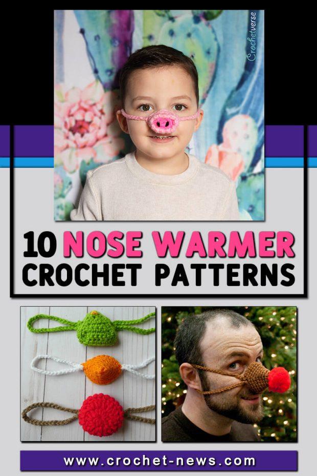 NOSE WARMER CROCHET PATTERNS
