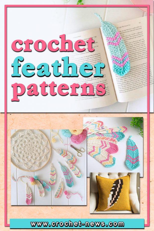 crochet feather patterns