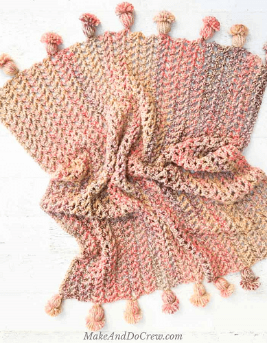 4 Hour Afghan Free Crochet Pattern by Make And Do Crew