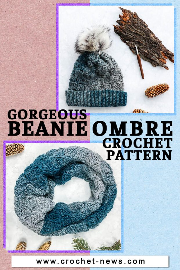 GORGEOUS BEANIE OMBRE CROCHET PATTERN