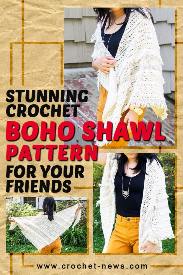 STUNNING CROCHET BOHO SHAWL PATTERN FOR YOUR FRIENDS